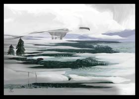 A Titan Emerges from the Fog by MattMart