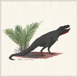 Deinodon horridus w/ Nypa sp. palm