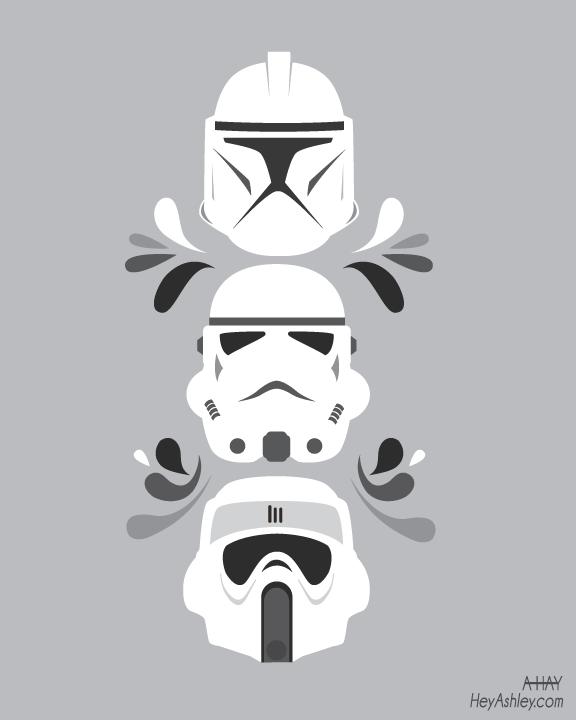 Clone Trooper Helmet Vector Storm Troopers by HeyK...