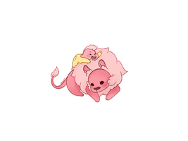 Baby Lion and Lars by RozuPandy