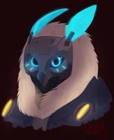 Overwatch Ana Snow Owl by RozuPandy