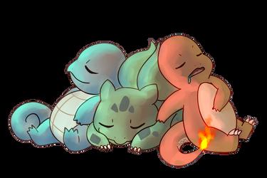 Pokemon starters by RozuPandy