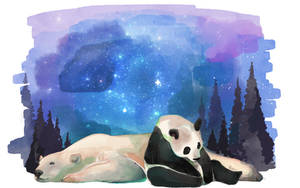 Polar and Panda by RozuPandy