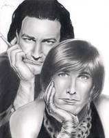 U2 - Bono with Edge in drag by WatchMoreTV