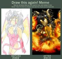 Draw this Again Meme - Rinoa by MagickDream