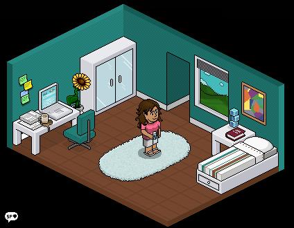 Mini habbo bedroom by squishedpixel on deviantart for Casa moderna en habbo fantasy