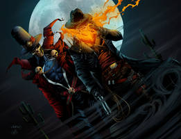 Gunslinger Spawn And Western Ghost Rider by mastr240