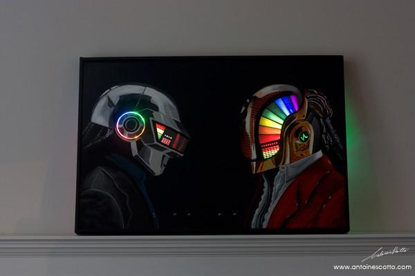 Daft Punk Discovery Era LED painting by antoinethefrench ...