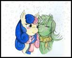 Lyra and Bon Bon-Winter Love