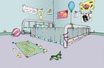 Pinkie's room in color. (Asylum fanart).
