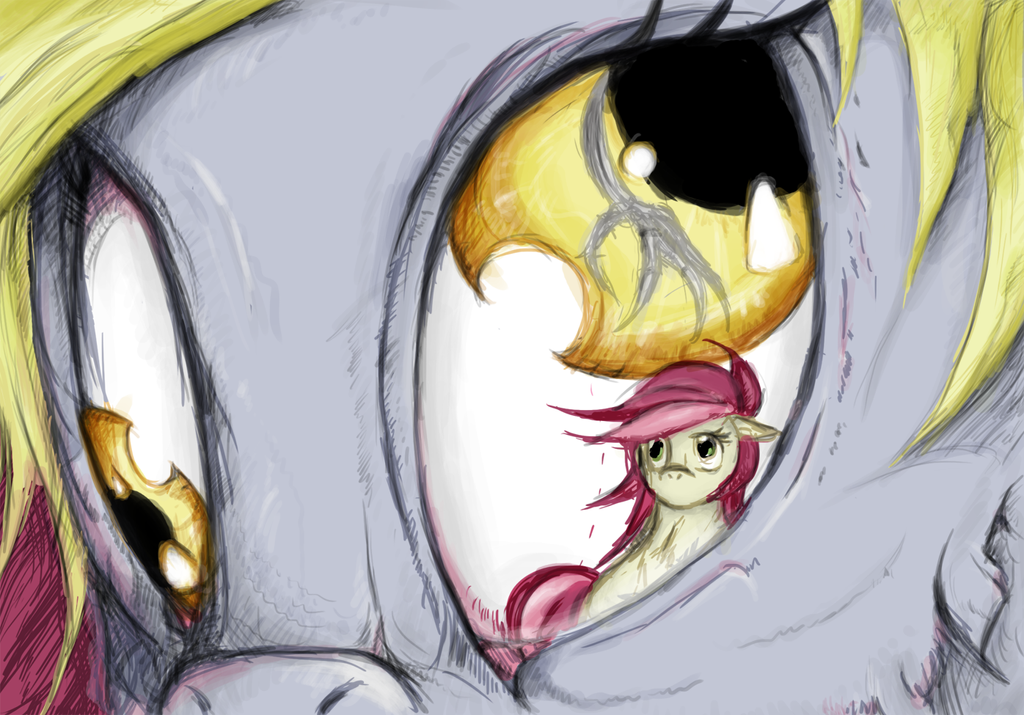 What lurks in the corner of her eye? by dreamingnoctis