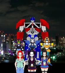 TransFormers Tokyo City by LovestrongArtFan90