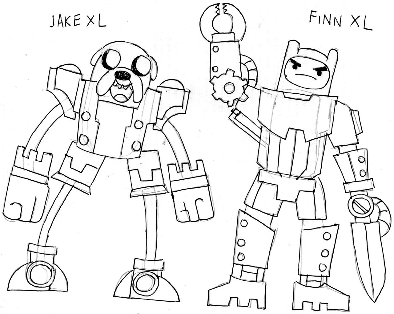 Finn y jake xl by vahi125 on deviantart for Finn and jake coloring pages