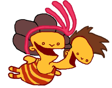 Broken Age's Shay and Vella as Double Fine's 2HB