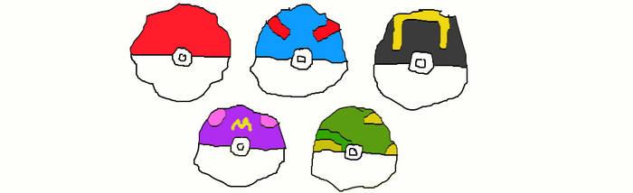 Pokeballs Generation 1 by MilliardPeacecraft