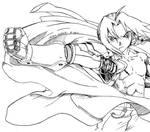 Edward Elric Ink by ska112