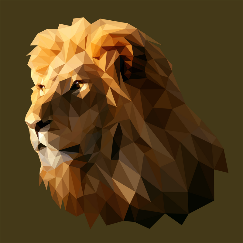 low poly lion by picturelizethis on deviantart. Black Bedroom Furniture Sets. Home Design Ideas