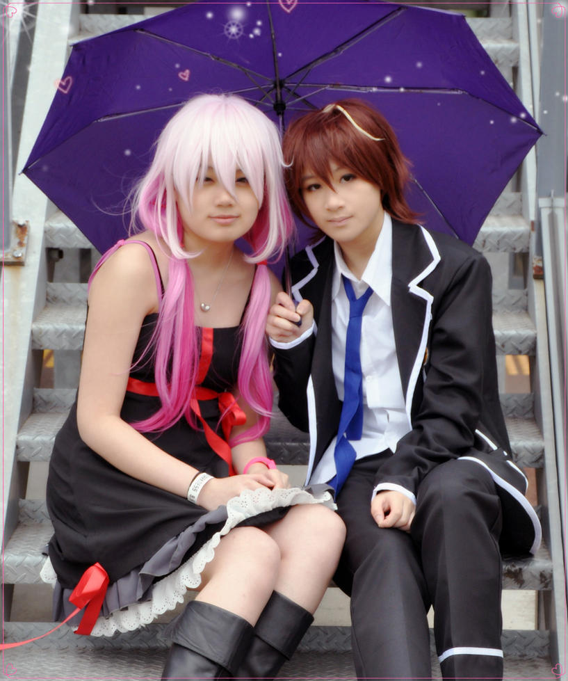 Guilty Crown: Under the Umbrella together by 2greenia