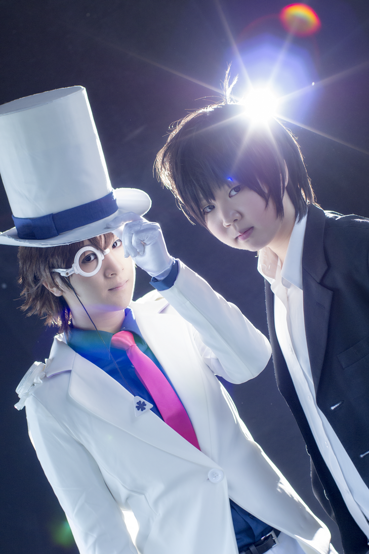 Magic Kaito 1412: Kaitou Kid vs Kudo Shinichi by 2greenia