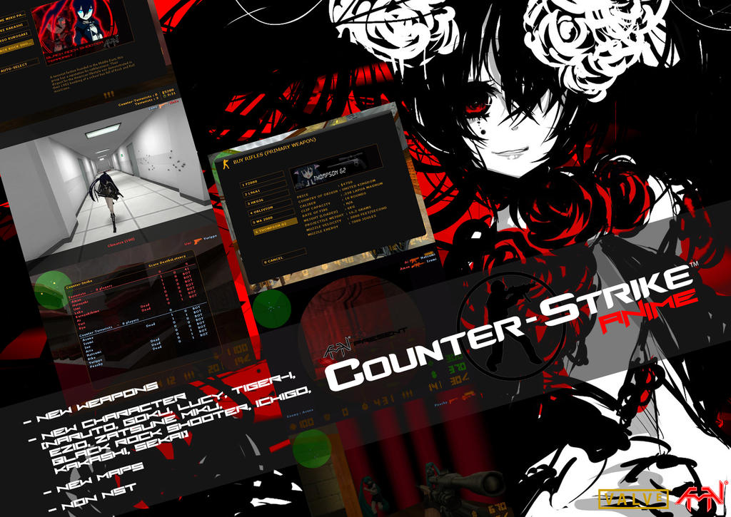 Anime mod counter strike 1.6 senjata pb