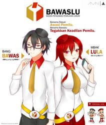Bawas and Lula [BAWASLU Mascot]