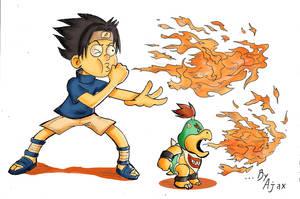 Sasuke and Bowser Jr
