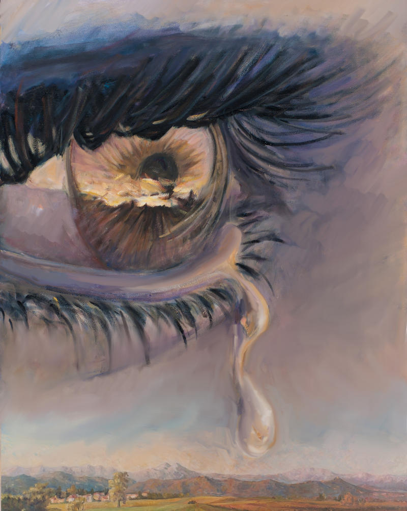 Ligh faling form the eyes 2 by marcobusoni