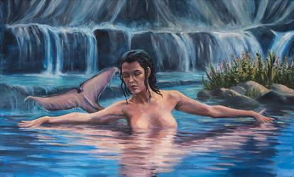 Sweet water mermaid by marcobusoni