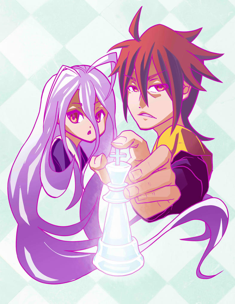 shiro and sora no game no life by sketchbeetle on deviantart