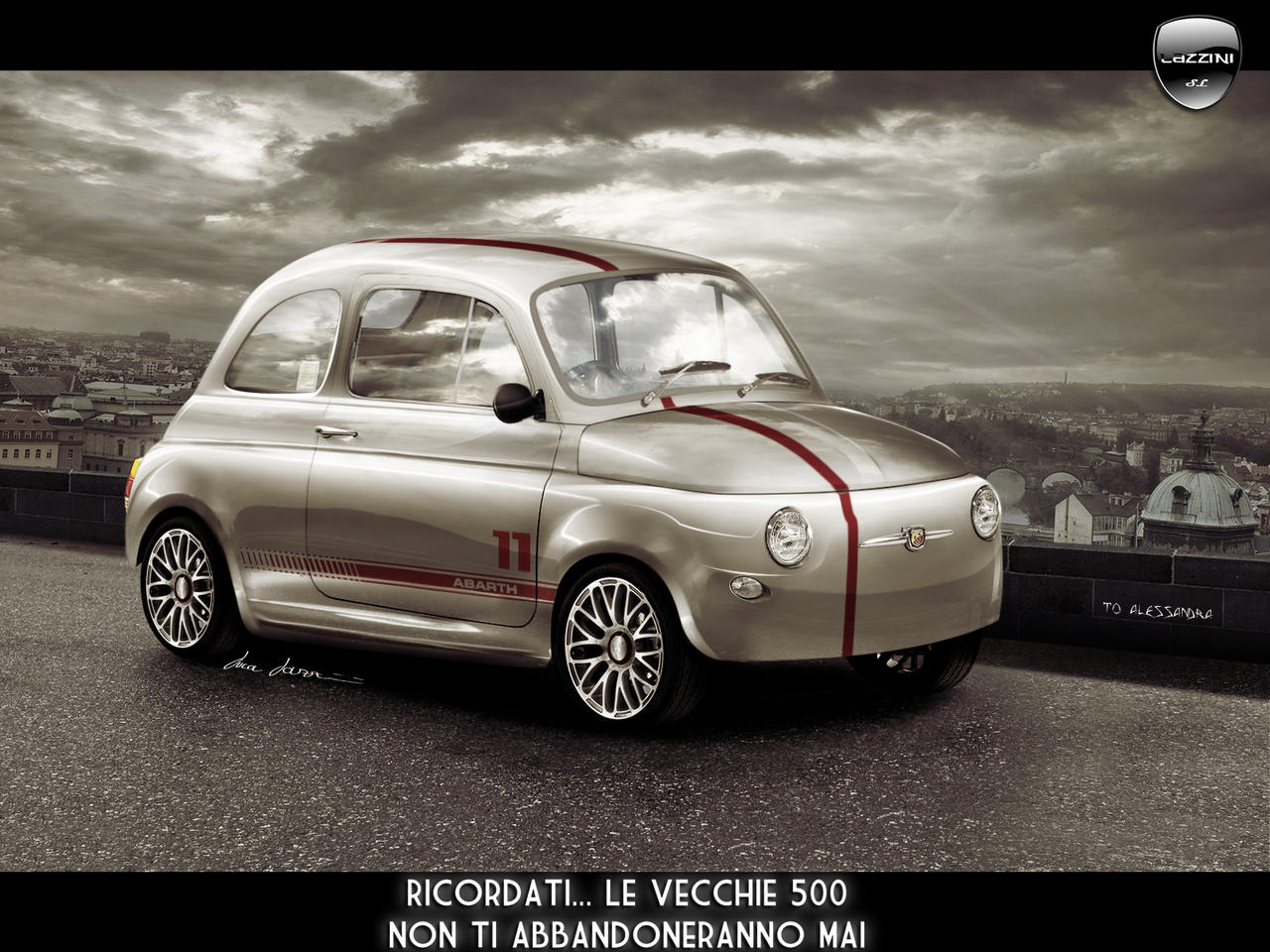 Fiat 500 Abarth A By Lazzituning On Deviantart