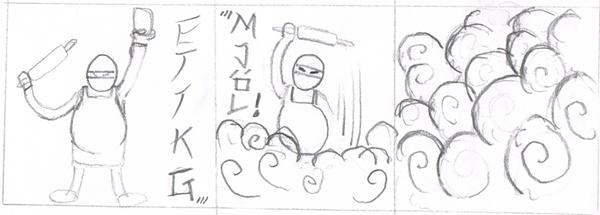 Baker Ninja Flour Bomb by LazyLionus