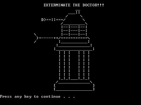 Doctor Who Dalek ASCII Art