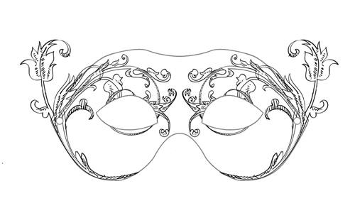 Carneval mask PRINT SIZE , PSD by weberica