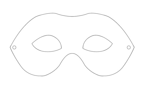 Carneval mask,PRINT SIZE blank by weberica