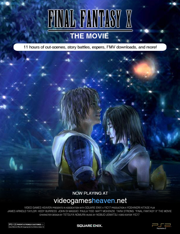final fantasy x movie poster by yic on deviantart