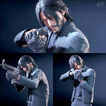 Noctis in John Wick Outfit