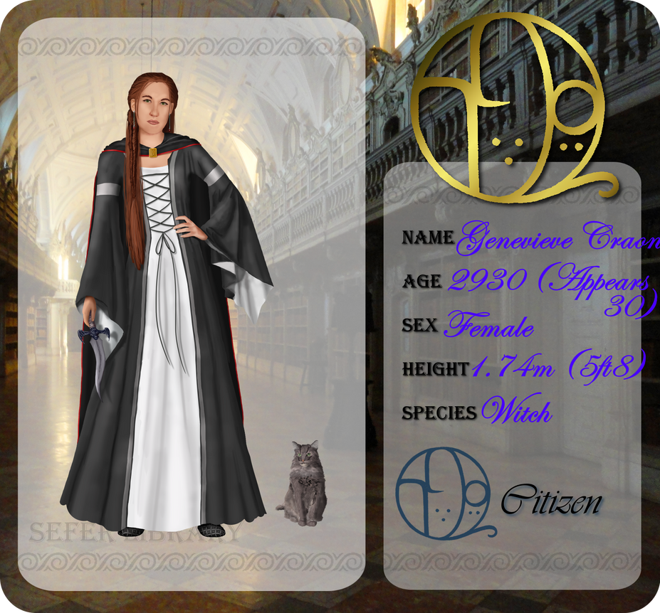 Sefer Library Application Genevieve Craon by MagicalJoey