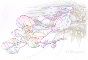 iridescent rainbow Kelpie by faeriefaeria