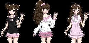Kisa Outfits -Tachikawa-High- by PixelDollx