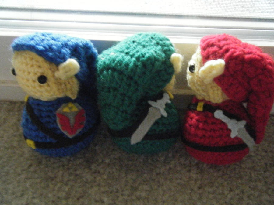 Amigurumi Zelda Pattern : Adult link legend of zelda amigurumi dolls by chibisayurietsy on