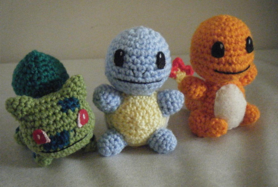 Amigurumi Pokemon Patterns Free : Little amigurumi anime game monsters by chibisayurietsy on deviantart