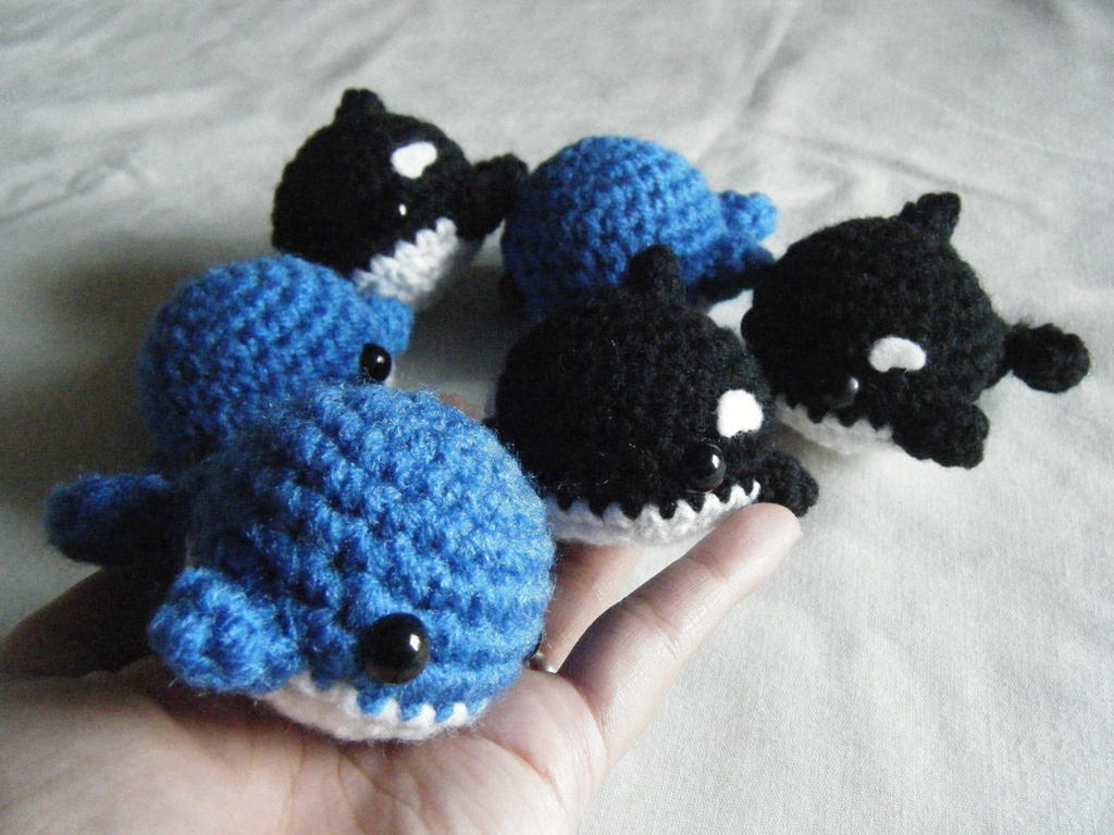 Crochet Amigurumi Blue Whale : Blue Whale and Orca Amigurumi by ChibiSayuriEtsy on DeviantArt