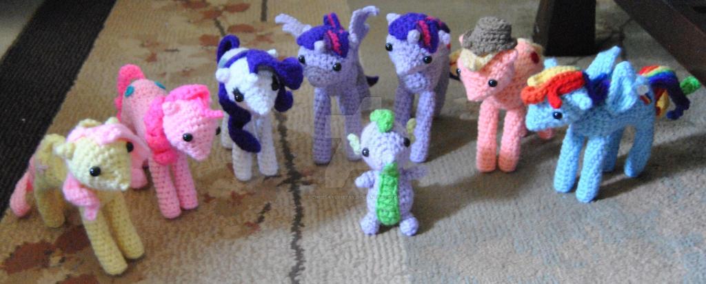 Amigurumi Mane : My Little Pony Inspired Mane 6 and Spike Amigurumi by ...