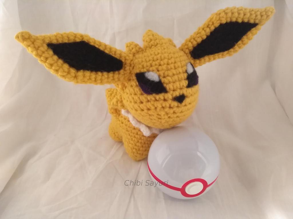 Jolteon Pokemon Inspired Amigurumi Ver.2 by ChibiSayuriEtsy