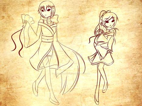 Midori and Tei -WIP-