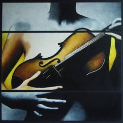 Violinist Oil Pastel by macys