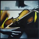 Violinist Oil Pastel