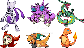 Pokemon Spriteovers by QueenKami