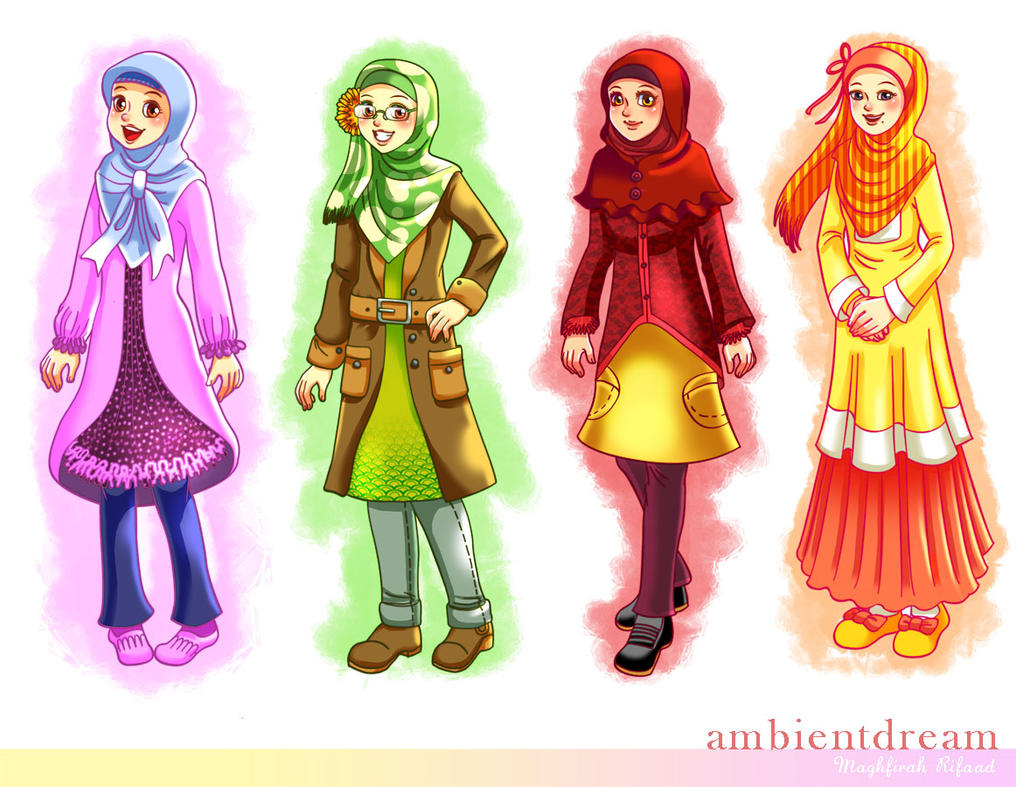 Character Design Site : Muslimah character design by ambientdream on deviantart