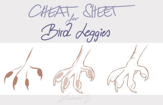 [Tutorial] Cheat Sheet: Bird Leggies